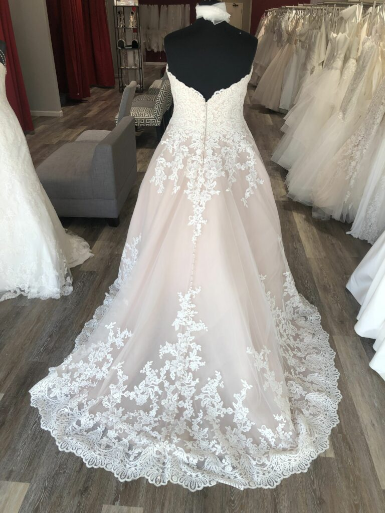 train of wedding dress