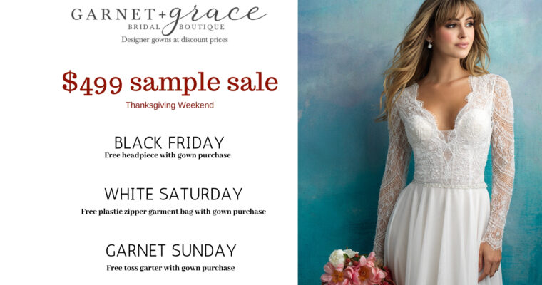 Black Friday $499 Wedding Dress Sample Sale