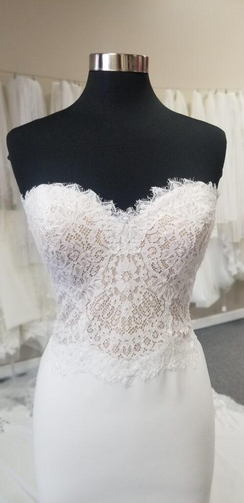 two-tone-lace-bodice-crepe-sheath-wedding-dress