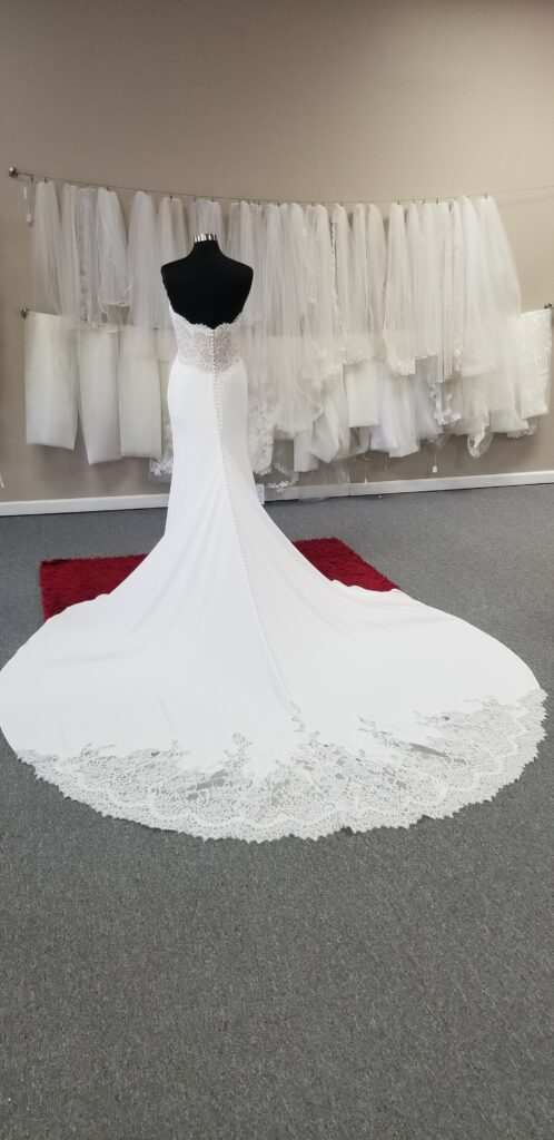 fancy-train-crepe-wedding-dress-discount-price-los-angeles-california
