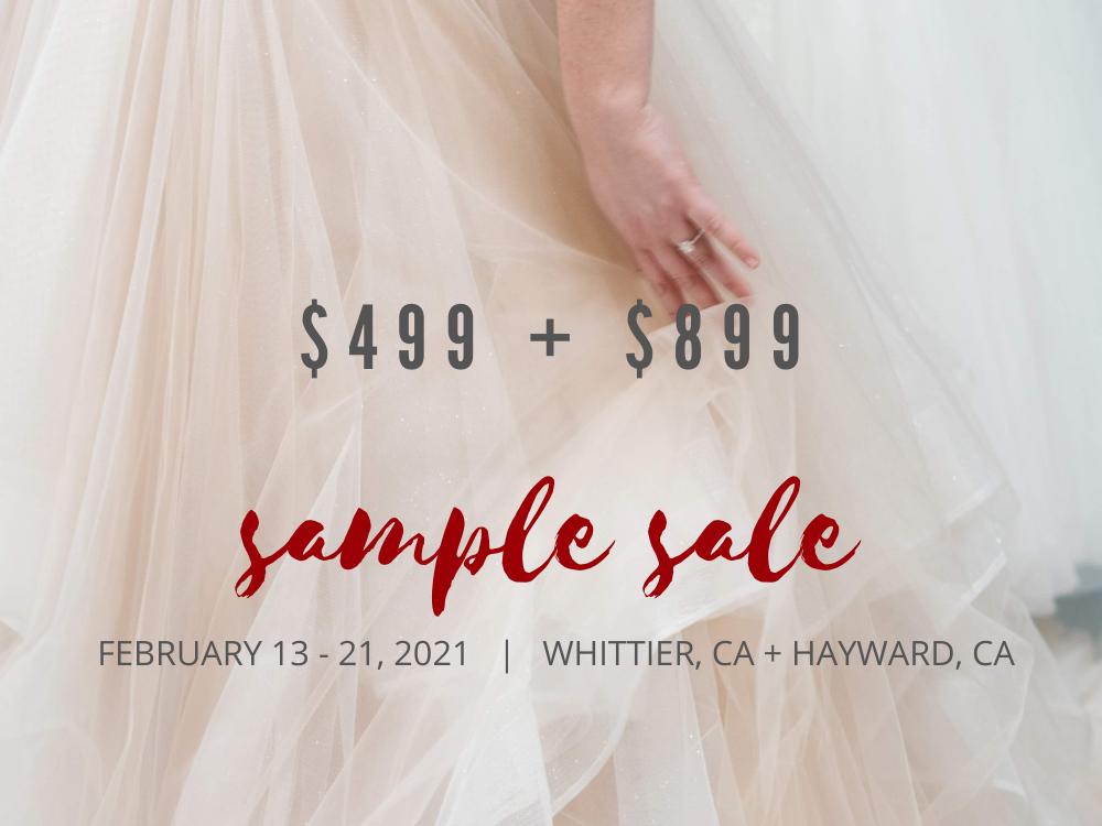 wedding dress sample sale hayward whittier california