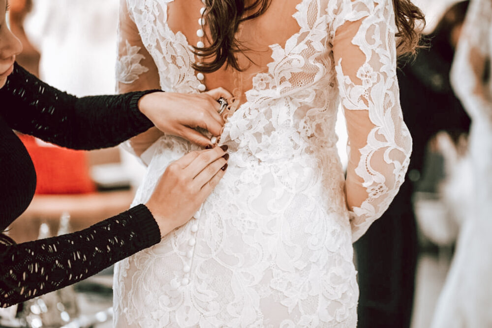 low back long sleeve lace wedding dress bridal for whittier california