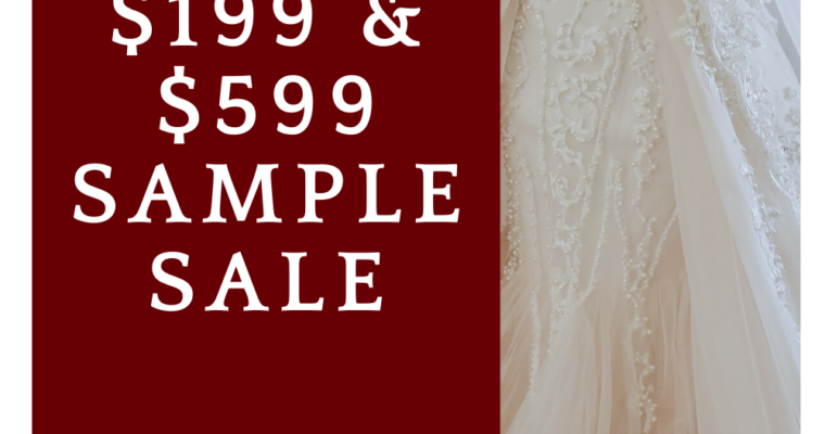 Off the Rack Wedding Dress Sale – $199 and $599