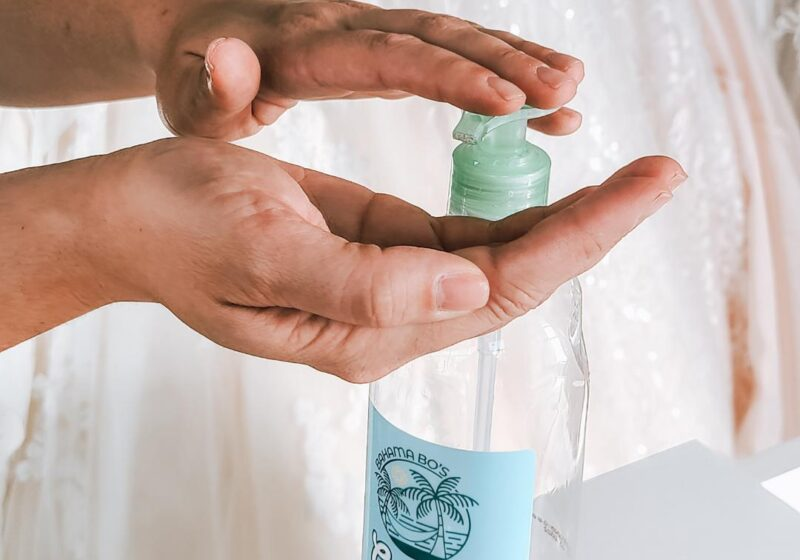 hand sanitizer for use at bridal store in california
