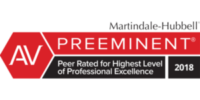 AV | PREEMINENT - Peer Rated for Highest Level of Professional Excellence | 2018