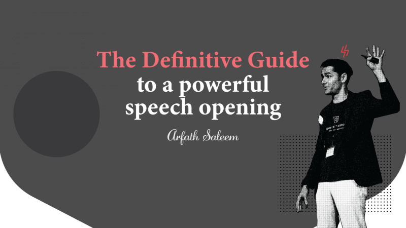 How to Start a Speech Powerfully – A Definitive Guide
