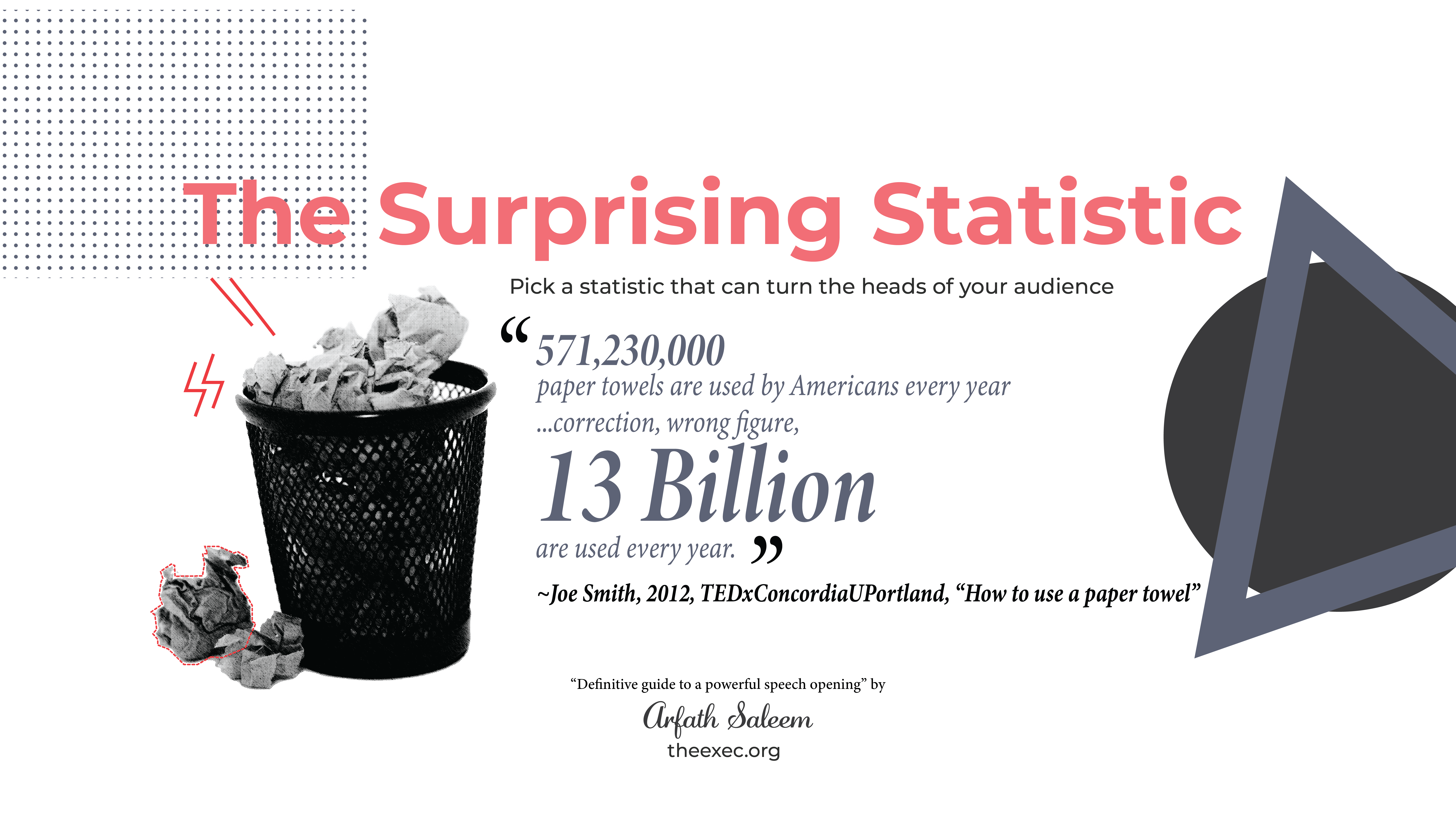 how to start a speech with a surprising statistic