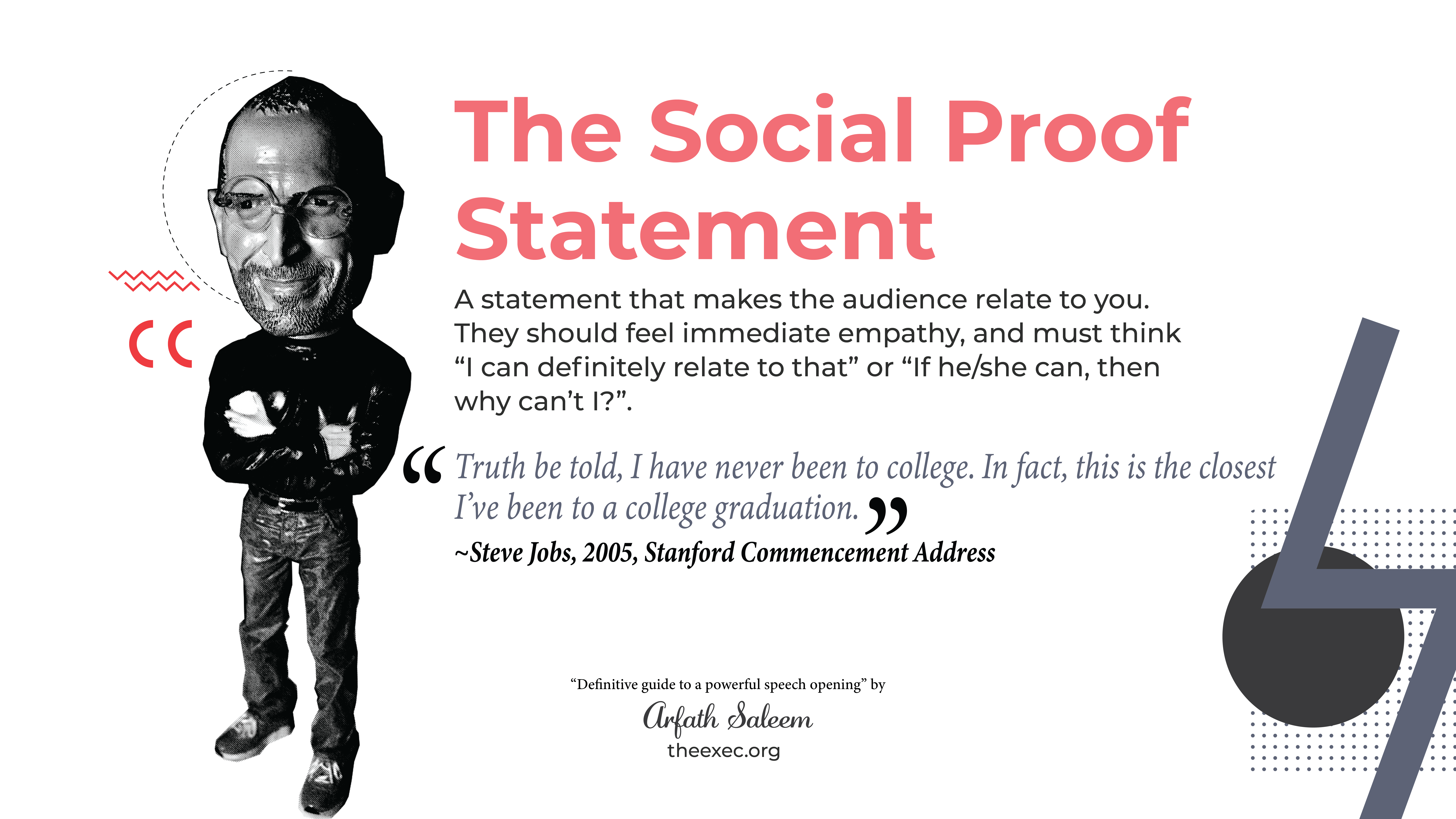how to open a speech the social proof statement