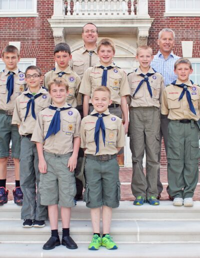 Lyndon with Boy Scouts