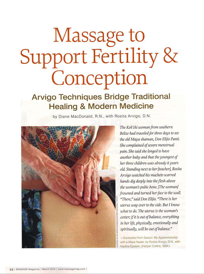 massage techniques to support fertility and Conception