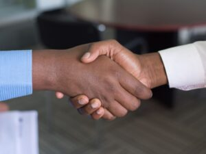 Shaking Hands, Connecting with Interview