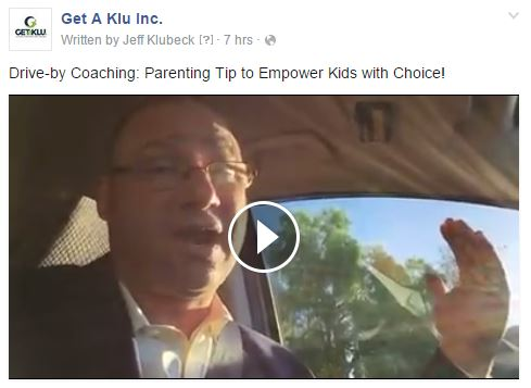 Drive-by Coaching Parenting Tip