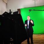 running Get A Klu video shoot