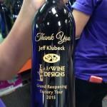 Thank You Gratitude Client Appreciation Jeff Klubeck A+ Wine Design