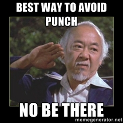 Confidence Mr. Miyagi Quote for Get A Klu