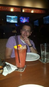 David enjoying a Zombie after we successfully completed our mission.