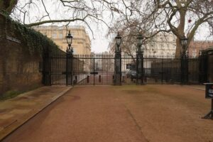 A glimpse of Clarence House