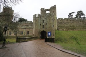Heading into Warwick Castle