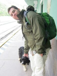 This jacket is durable and was able to survive the lustful attacks of this dog in Peru