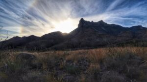 Sunset on the Dodson trail