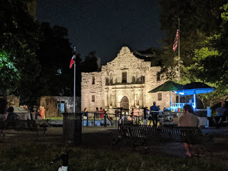 The meetup location at the Alamo