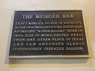 Placard for the Menger Hotel