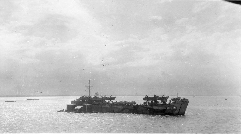 Collision with LST 549