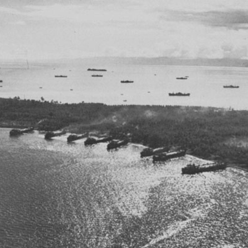 USS Hughes at the Battle of Morotai