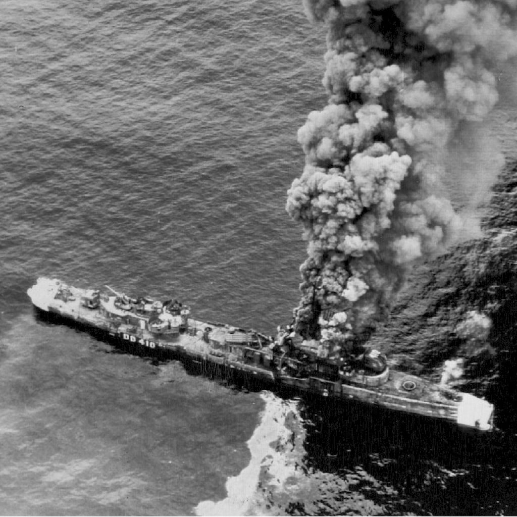 The USS Hughes is Sunk