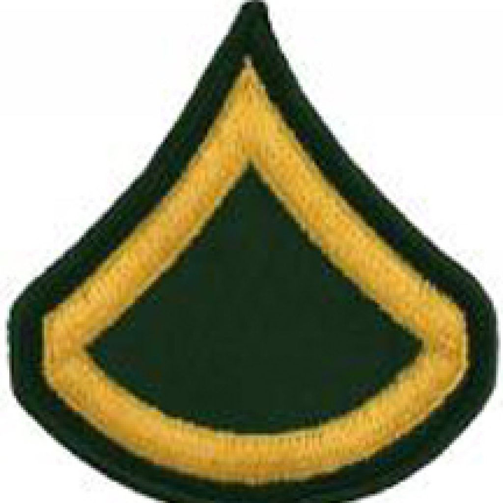 Ernest is promoted to Private First Class
