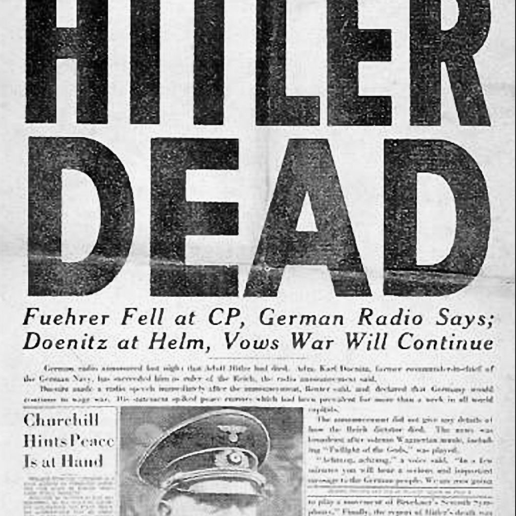 Hitler Commits Suicide and Germany Surrenders