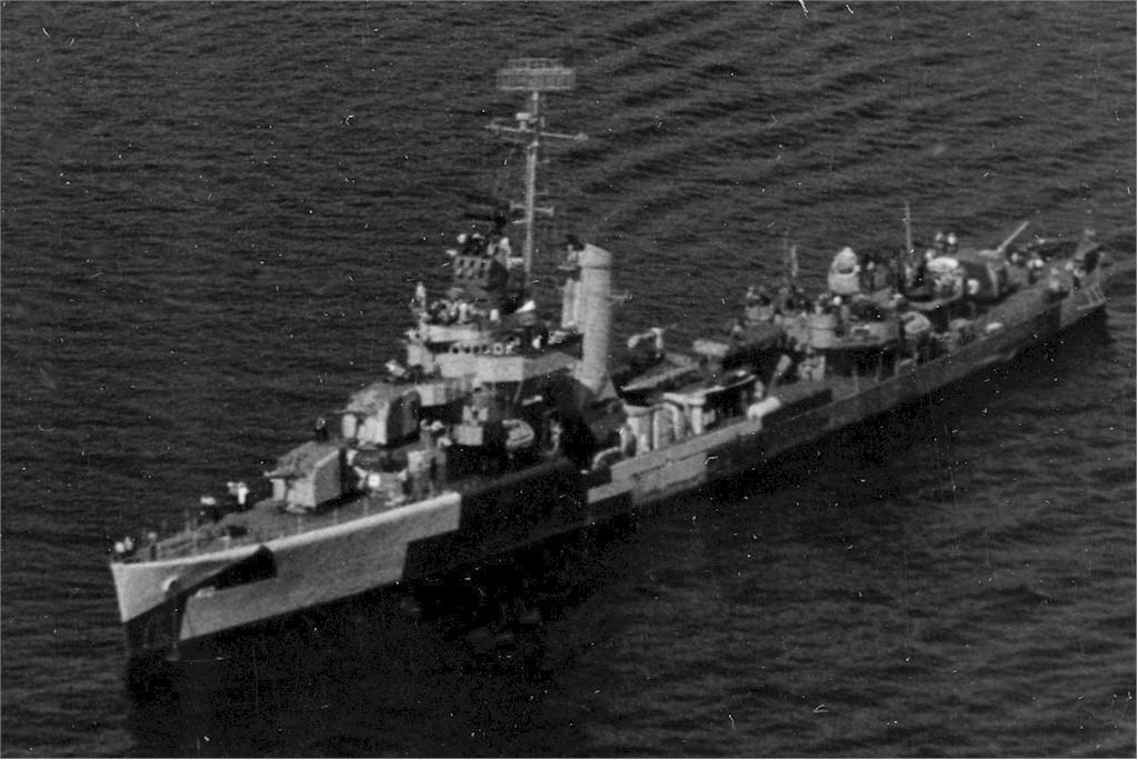 USS Hughes in the open sea