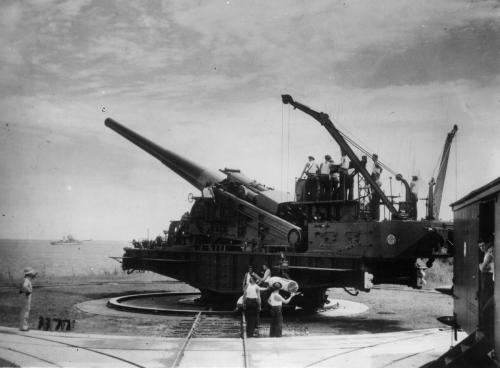 14 inch gun at the Panama Canal Zone - WWII