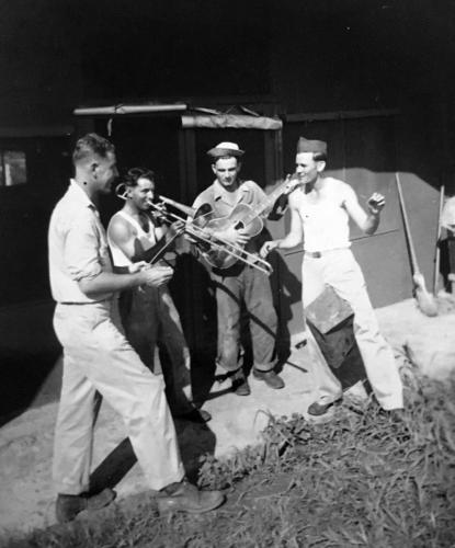 McCarthy with fellow soldiers