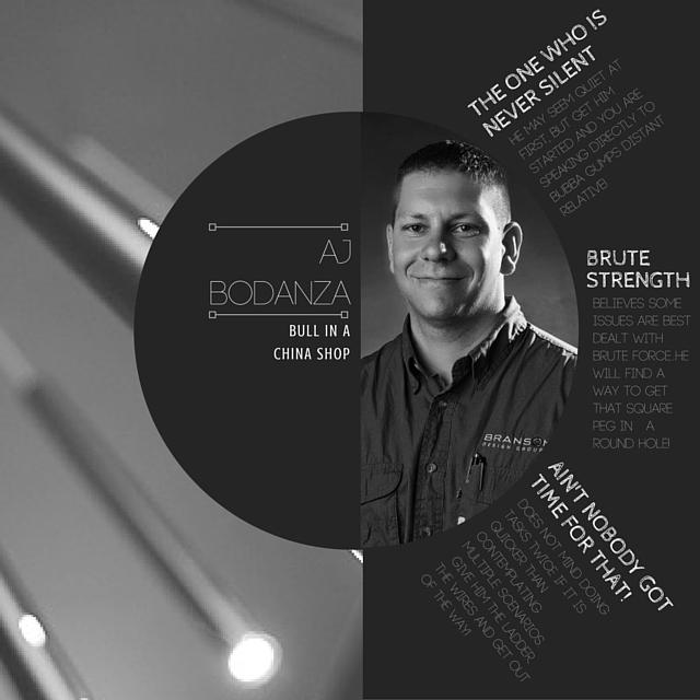 AJ Bodanza Bio Branson Design Group