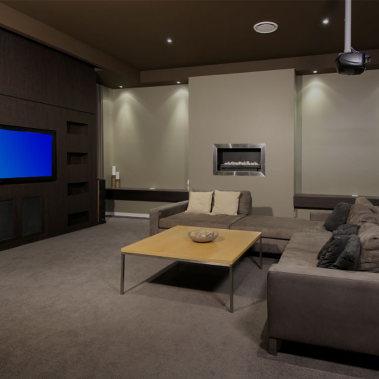 media room whole home automation