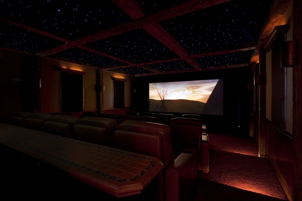 miller home theater design dark