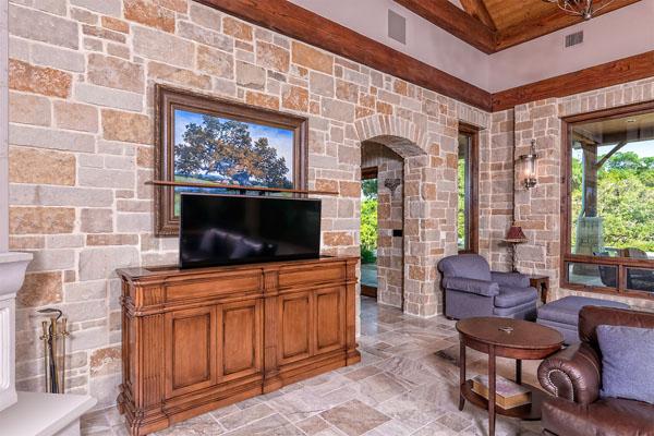 hidden smart home tv stand