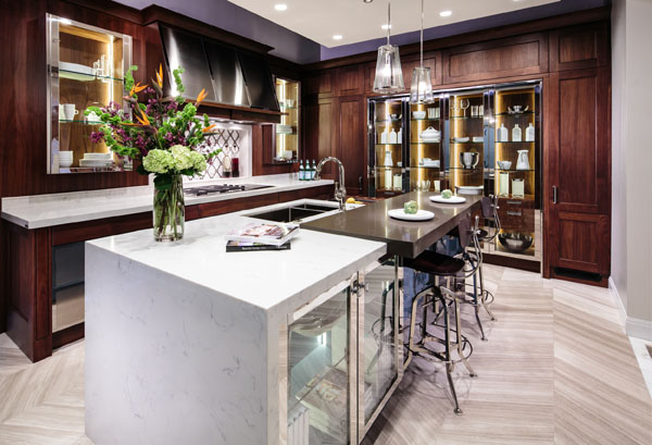 smart home automation kitchen island