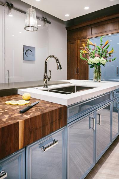 smart home automation luxury kitchen sink