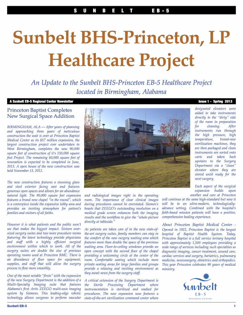 Sunbelt BHS-Princeton Update Issue 1 Spring 2013 copy