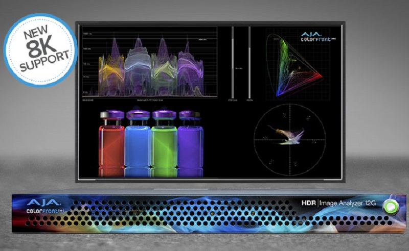AJA Ships HDR Image Analyzer 12G with 8K Support
