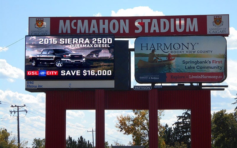 10FT x 20FT P16 - MC MAHON STADIUM - Calgary, AB