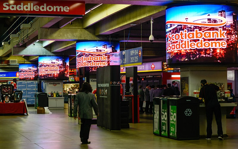 Customized LED Display - Calgary Flames - Scotiabank Saddledome