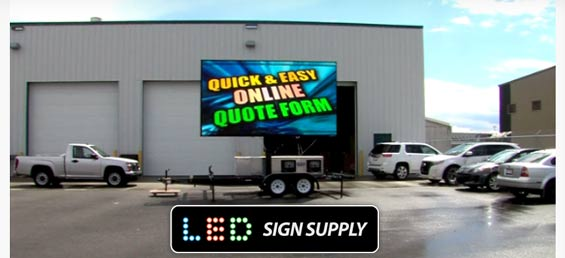 Mobile LED Billboards for Events