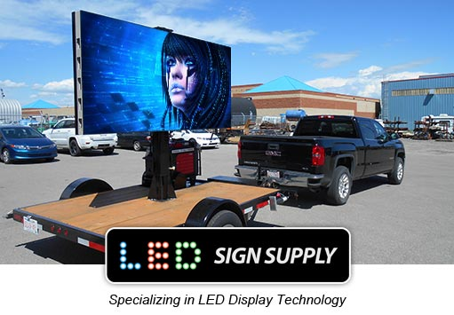 Advertising in Town With LED Billboard