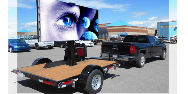 Outdoor Mobile Billboard Trailers