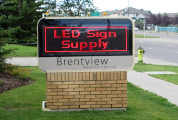 Electronic Outdoor Sign for Churches