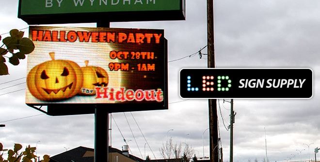 LED Signage Last Throughout the Winter