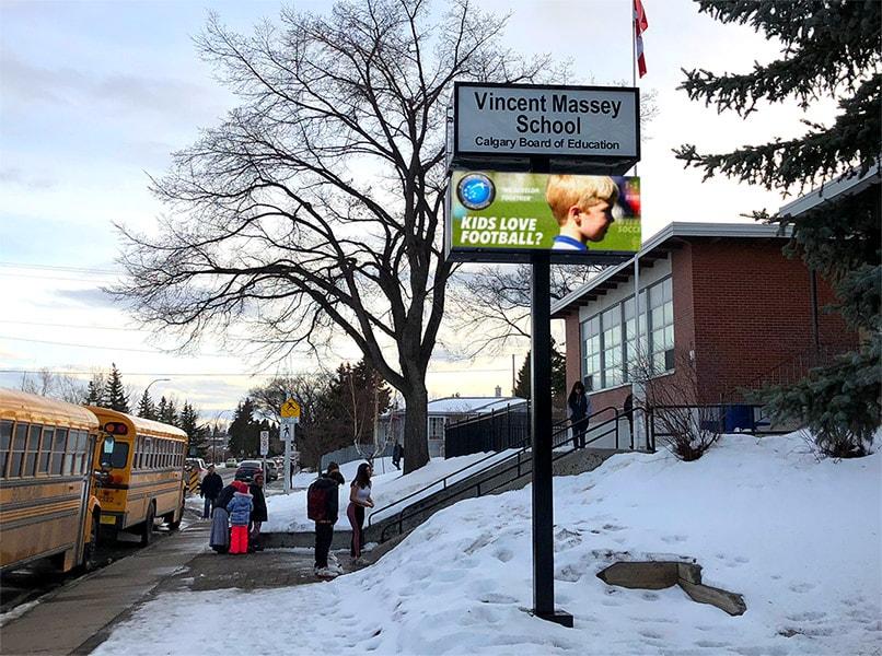 Electronic School Billboard